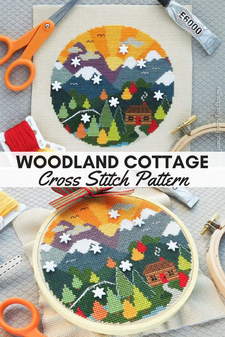 Cross Stitch Patterns for Fall: Autumn Landscapes