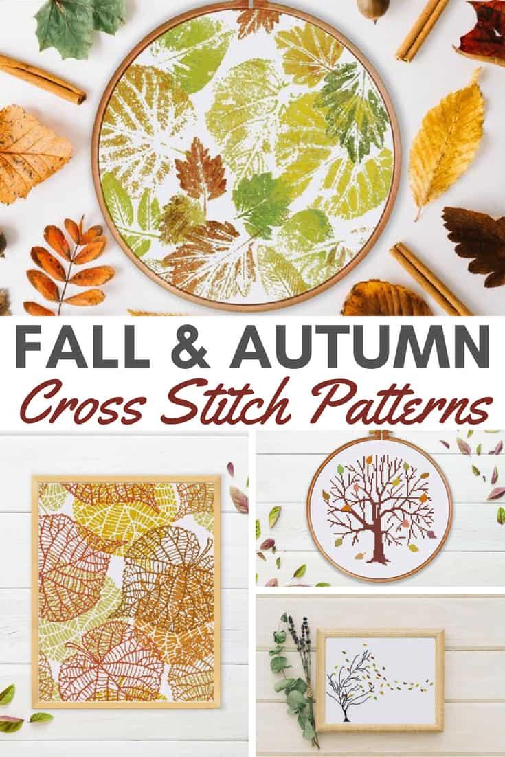 Cross Stitch Patterns for Fall