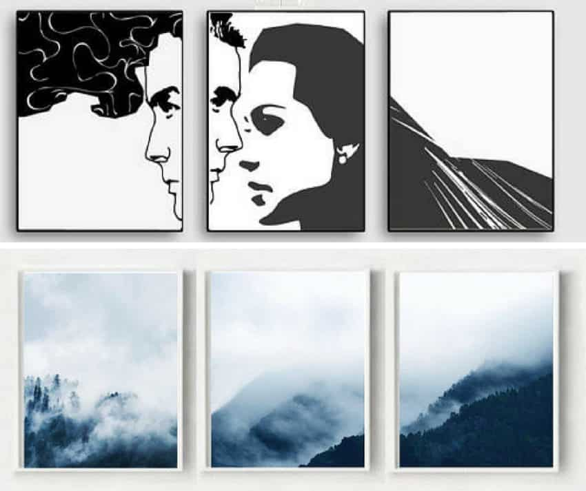 Printable Triptych Art Work