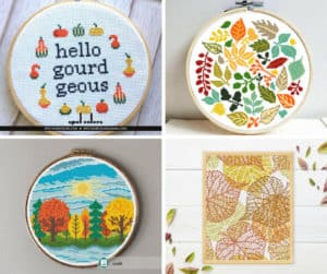 12 Cross Stitch Patterns for Fall