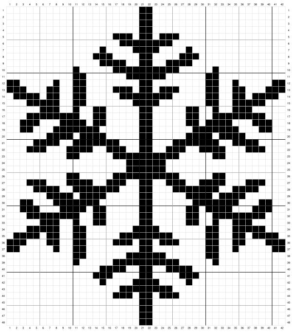 Medium Snowflake Cross Stitch Pattern