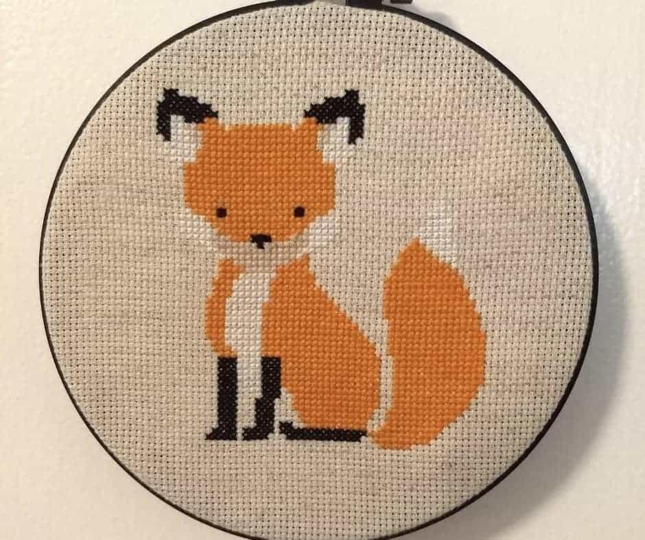 Home Design Ideas Free Download: Fox Cross Stitch Pattern [Free Woodland Fox Cross Stitch