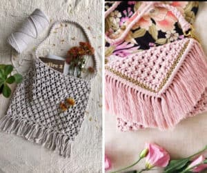 8+ Incredible Macrame Bags and Purses Tutorials